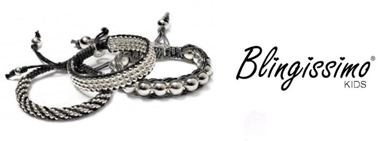 Blingissimo - geknoopte katoenen kinder armbanden met zilver
